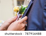 wedding decoration yellow rose... | Shutterstock . vector #787916488