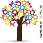 stylized floral tree | Shutterstock .eps vector #78793045