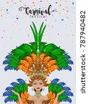 carnival dancing girl in... | Shutterstock .eps vector #787940482