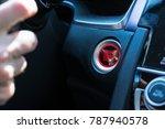 push to start engine button...   Shutterstock . vector #787940578