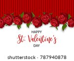 beautiful holiday rose blossom... | Shutterstock .eps vector #787940878