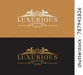 luxury vintage crest logo.... | Shutterstock .eps vector #787941826
