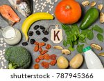 Stock photo food is source of potassium various natural food rich in vitamins and micronutrients useful food 787945366