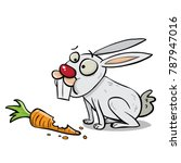 rabbit eating carrot | Shutterstock .eps vector #787947016