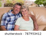 senior beautiful middle age... | Shutterstock . vector #787953412