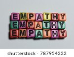 empathy word and letters... | Shutterstock . vector #787954222