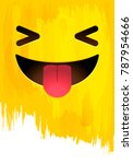 smiley stuck out tongue face ... | Shutterstock .eps vector #787954666