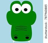 crocodile vector illustration ... | Shutterstock .eps vector #787960885