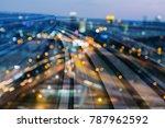 night blurred light city office ... | Shutterstock . vector #787962592