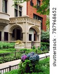 Small photo of Chicago, IL USA May 29, 2012 Beautiful ornate architecture abound in the Lincoln Park neighborhood of Chicago