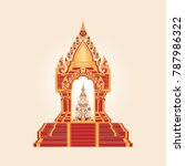 thai traditional pattern with... | Shutterstock .eps vector #787986322