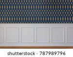 white rectangle wood paneling... | Shutterstock . vector #787989796