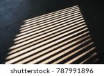 shade and shadow on wall from a ... | Shutterstock . vector #787991896