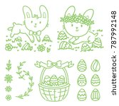 hand drawn outline elements and ... | Shutterstock .eps vector #787992148