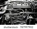 a classic fragment of diesel... | Shutterstock . vector #787997902
