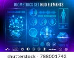 biometrics set hud elements | Shutterstock .eps vector #788001742