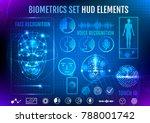 biometrics set hud elements | Shutterstock .eps vector #788001742