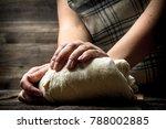 dough background. preparation... | Shutterstock . vector #788002885