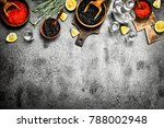 black and red caviar with a... | Shutterstock . vector #788002948