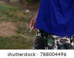 smoking stub danger to health... | Shutterstock . vector #788004496