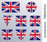 uk flag icon set. british flag... | Shutterstock . vector #788004562