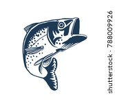 fish illustration for fishing... | Shutterstock .eps vector #788009926