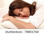 woman sleeping | Shutterstock . vector #78801760