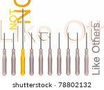 orange and gray screwdrivers... | Shutterstock . vector #78802132