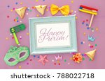 purim celebration concept ... | Shutterstock . vector #788022718