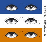 the abstract eyes. simple... | Shutterstock .eps vector #7880311