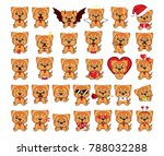 a large set of small dogs from... | Shutterstock . vector #788032288