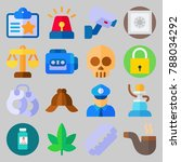 icon set about crime... | Shutterstock .eps vector #788034292