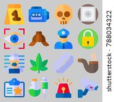 icon set about crime... | Shutterstock .eps vector #788034322