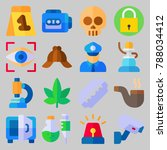 icon set about crime... | Shutterstock .eps vector #788034412