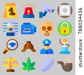 icon set about crime... | Shutterstock .eps vector #788034436