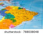 map of brazil   shallow focus | Shutterstock . vector #788038048