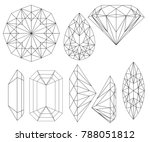 clear diamond crystals... | Shutterstock .eps vector #788051812