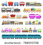 kids train cartoon baby... | Shutterstock . vector #788053708