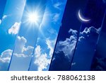 opposites in nature  day and... | Shutterstock . vector #788062138