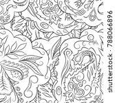 seamless mehndi vector pattern. ... | Shutterstock .eps vector #788066896
