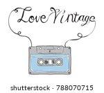 compact cassette  musicassette  ...   Shutterstock .eps vector #788070715