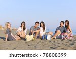 happy young people group have... | Shutterstock . vector #78808399