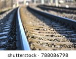 railway crossing  train comming ... | Shutterstock . vector #788086798