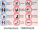 swimming pool rules | Shutterstock . vector #788094628
