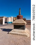 """Small photo of Ouarzazate, Morocco - December 27, 2017: Stage set in Atlas Film Studios Where Films Like """"Gladiator"""" and """"Little Buddha"""" Were Filmed."""