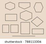 set frames .vintage vector...   Shutterstock .eps vector #788113306