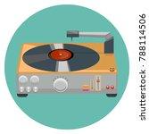 turntable  vinyl player ... | Shutterstock .eps vector #788114506