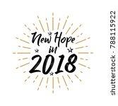 new year 2018   vintage  ... | Shutterstock .eps vector #788115922