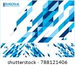 modern diagonal abstract... | Shutterstock .eps vector #788121406