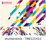 modern diagonal abstract... | Shutterstock .eps vector #788121412